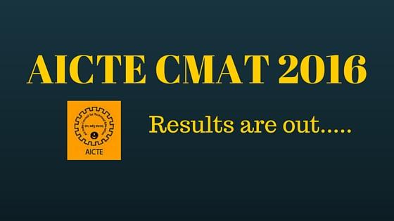 AICTE CMAT 2016 Results