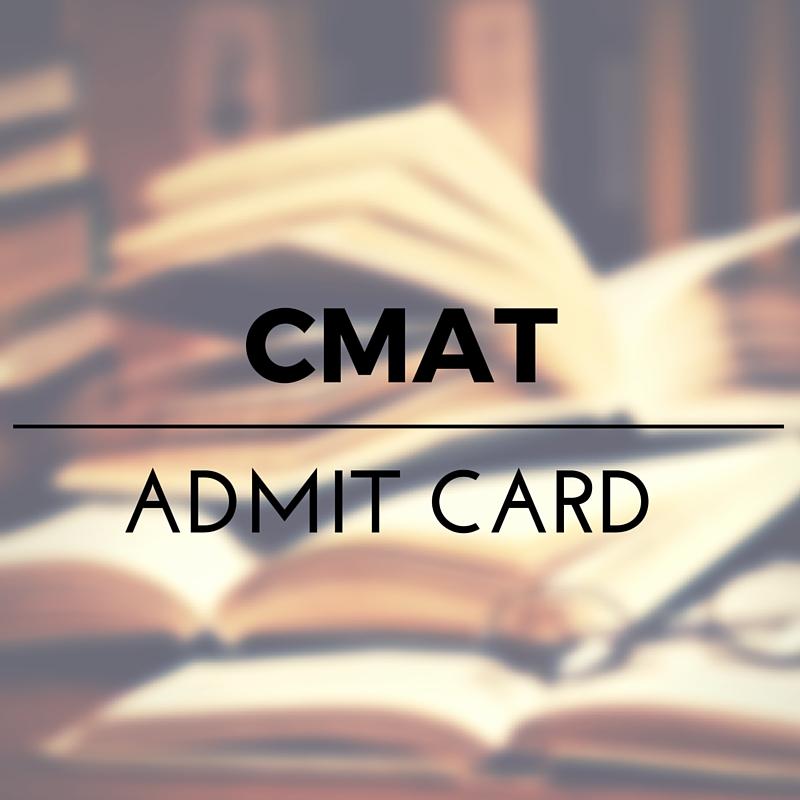 CMAT 2016 Download Admit card