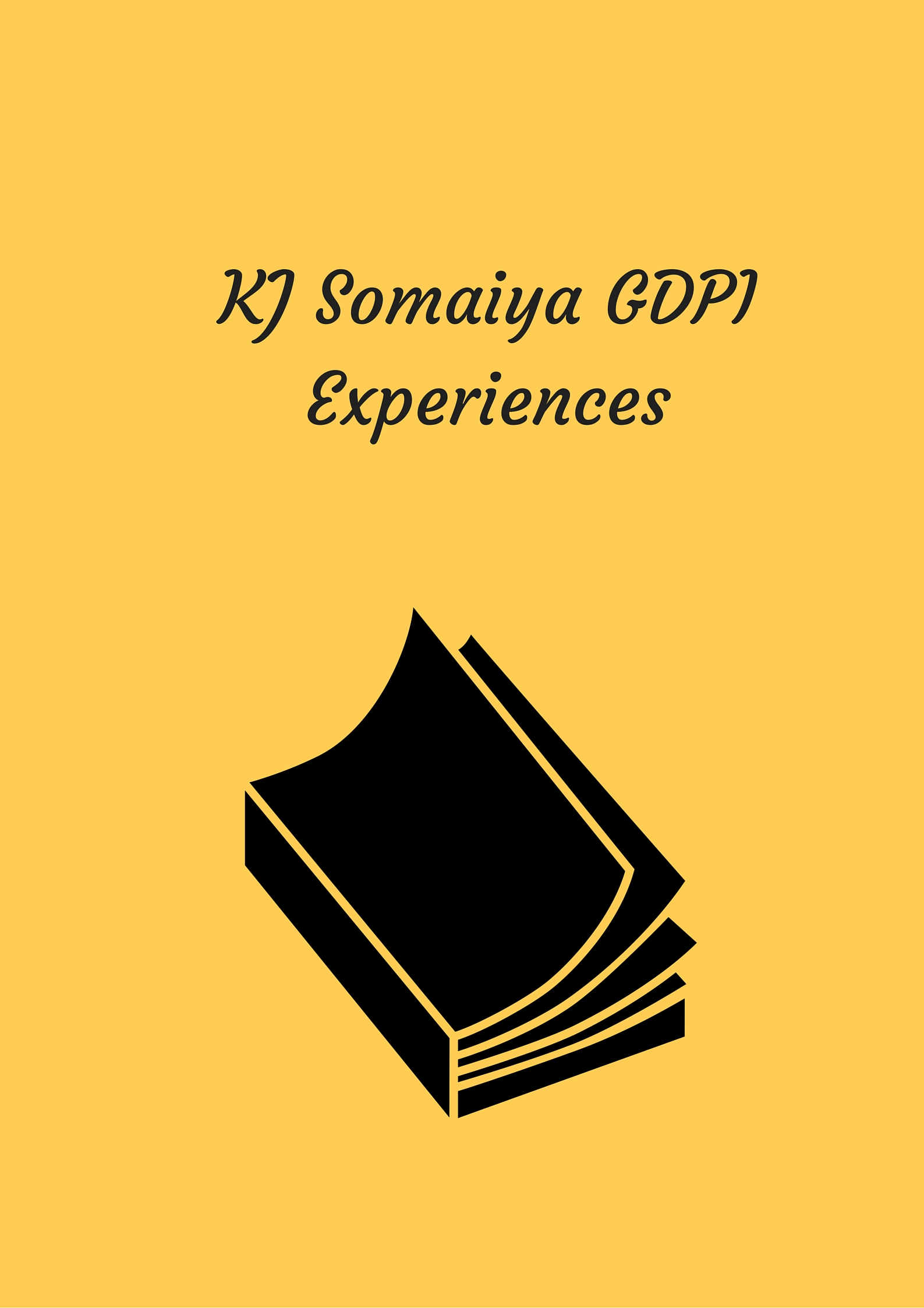KJ Somaiya GDPI Experiences
