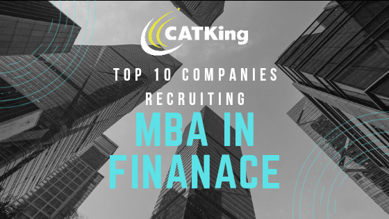 CATKing MBA in Finance colleges