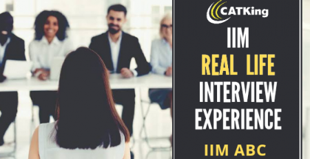 CATKING cover page iim experience
